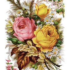 Vintage Rosen, Art Vintage, Vintage Posters, Victorian Flowers, Antique Roses, Vintage Flowers, Victorian Era, Art Floral, Floral Theme