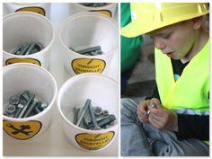 Baustellenparty Partyspiele BAustellengeburtstag Spiele Bauarbeiterparty spielen Spielideen  www.pickposh.de