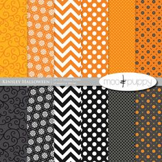 Kinsley Halloween Digital Scrapbook Paper