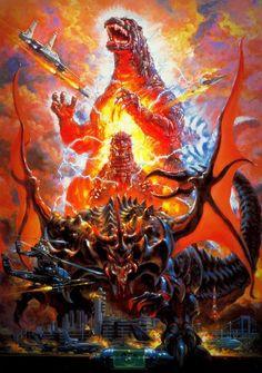 90 s Retro Reproduction B Movie Godzilla vs Destroyer Film Poster Print Godzilla Vs Destroyah, Original Godzilla, Godzilla Franchise, Godzilla Tattoo, Godzilla Toys, King Kong, Retro, Poster Print, Films Cinema