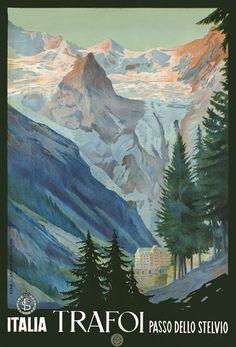 Vintage Italian Alps Poster