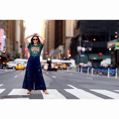 "@theimpression_ on Instagram: ""Eleonora Carisi in Fashion Week Street Mavens as seen on #TheImpression photo by @vincenzo_grillo #FashionWeek #StreetStyle #streetfashion #fashionstyle #street #style #instastyle #NewYork #NYC #NYFW #NYFWSS16 #streetwear #fashion #womenswear #blogger #fashionable #chic #newyorkstreetstyle #womenswearfashion #crosswalk #widelegpants #lace #denim #TheU #TheUMiami #beautiful @eleonoracarisi"""