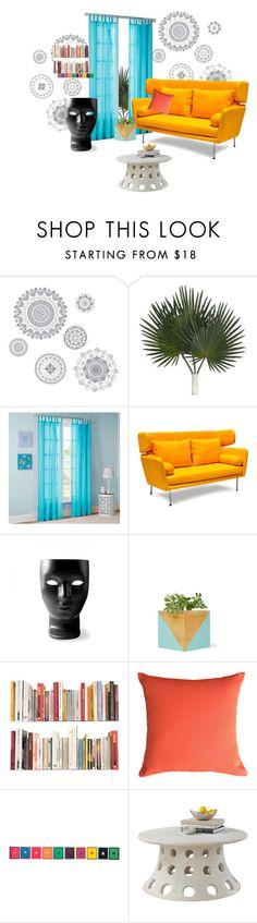 """Untitled #72"" by dollyyyyyyyyyyyyyyyyyy ❤ liked on Polyvore featuring interior, interiors, interior design, home, home decor, interior decorating, WallPops, Mi-Zone, Dot & Bo and Driade"
