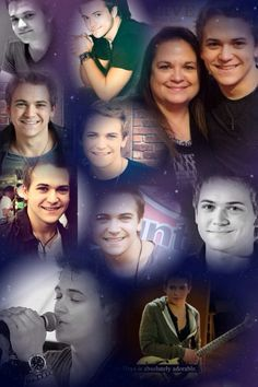 these are pretty pics of hunter Hayes and his mom his mom is so cute