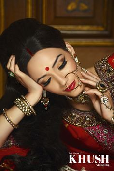 Traditional bridal makeup by Shahnaz Islam    T: +44(0)7538 181 277  E: shahnazhennamua@hotmail.co.uk  As seen in the Autumn 2013 Issue of Khush Wedding Magazine