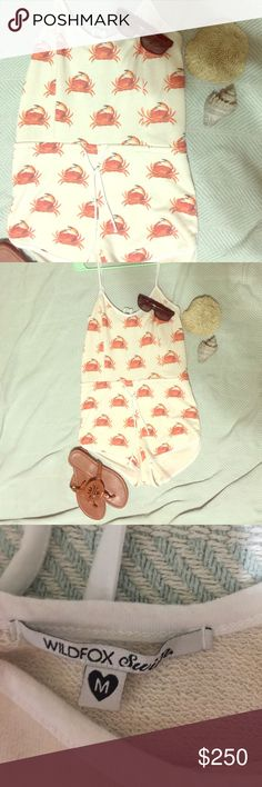Wildfox RARE FIND, Crab 🦀Romper! For the right price I will part with it, but as of now I am keeping it since of course it's another gorgeous wildfox product! Size medium, will fit small-medium. 🦀 Wildfox Intimates & Sleepwear