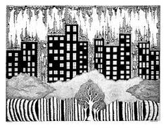 cityscape drawing - Google Search