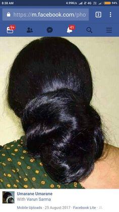 Bun Hairstyles For Long Hair, Braids For Long Hair, Indian Long Hair Braid, Beautiful Buns, Tamil Girls, Big Bun, Hair Buns, Amazing Hair, Thick Hair