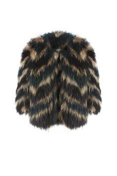 Eva Coat - Green           Racoon Fur shop online in www.beniroom.com
