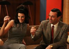 "Don Draper (Jon Hamm), and wife Megan (Jessica Paré) left viewers wanting in the ""Mad Men"" season-five finale. Don Draper, Betty Draper, Jessica Paré, Gina Rodriguez, Jon Hamm, Amal Clooney, Salma Hayek, Mad Men Mode, Madison Avenue"
