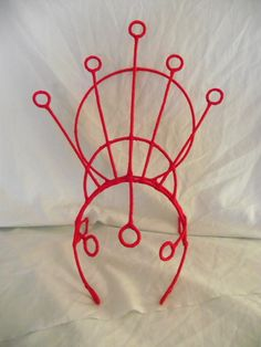 These metal frames for a headdress are intriguing.