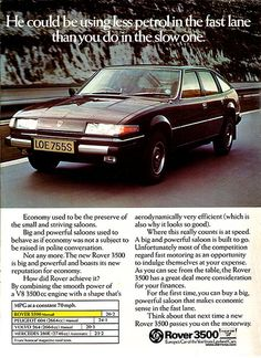 New Rover 3500 promotion Vintage Advertisements, Vintage Ads, Retro Ads, Automobile, Ad Car, Car Posters, Car Advertising, Classic Cars, Classic Auto