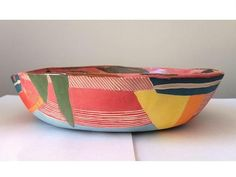 Your place to buy and sell all things handmade Pottery Bowls, Ceramic Bowls, Stoneware, Clay Bowl, Sgraffito, Pink Art, Abstract Pattern, Decorative Bowls, Craft Supplies