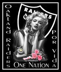 Oakland Raiders Wallpapers, Oakland Raiders Images, Oakland Raiders Logo, Raiders Football, Lace Skull, Raiders Girl, Pulp Fiction Book, Marilyn Monroe Art, Raider Nation