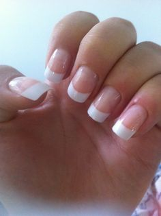My own classic French tip nails :)