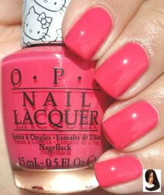 Nail Color OPI — Spoken from the Heart (Hello Kitty Collection Opi Nail Colors, Pretty Nail Colors, Spring Nail Colors, Gel Polish Colors, Spring Nails, Pretty Nails, Nail Polish, Nailart, Hello Kitty Nails