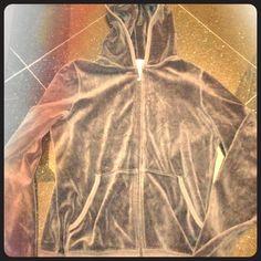 Juicy couture sweat jacket brown velour sweat jacket ... Perfect condition!!! Juicy Couture Sweaters
