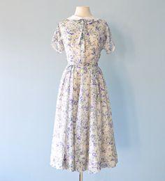 Vintage 1950s Semi Sheer Daydress