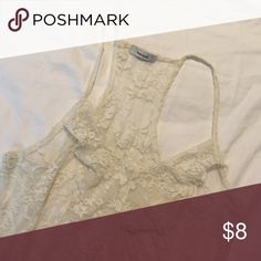 Cream lace tank No holes or rips in lace. Tops Tank Tops