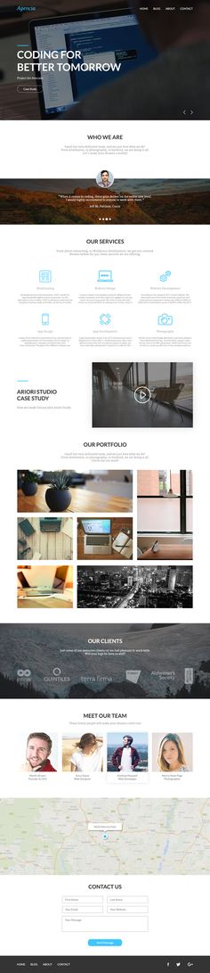 Nice and clean one page PSD template to base a website design off of. Great grid structure! The portfolio looks especially nice. The link has more PSD templates as well.
