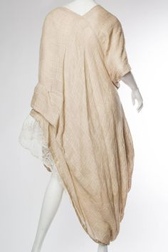 Early 1980s Comme des Garcons Linen Dress | From a collection of rare vintage day dresses at https://www.1stdibs.com/fashion/clothing/day-dresses/