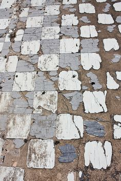 Shabstract / Old Tile Floor - 2012 - Dana Ann Evans photography… Wabi Sabi, Surface Pattern, Surface Design, In Natura, Texture Art, Tactile Texture, White Texture, Grafik Design, Textures Patterns