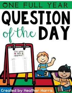 Whether you have Morning Meetings, Circle Time, Chit Chat or Morning Message, Question Of The Day will be a fun addition!Question Of The Day is a great way for you to get to know your students while also practicing graphing skills.This kit is everything you will need to have a new question every school day for one year.