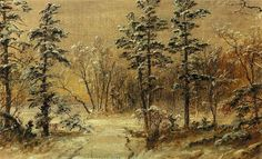 'Winter Wonderland', Oil On Canvas by Jasper Francis Cropsey (1823-1900, United States)