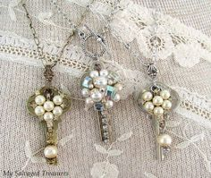 Modern key jewelry upcycle craft