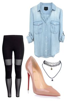 Untitled #32 by shelbyroseee on Polyvore featuring polyvore fashion style Christian Louboutin Wet Seal clothing