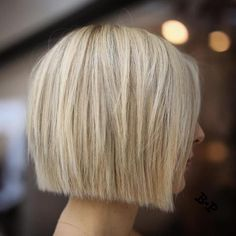 Straight Cut Blonde Bob