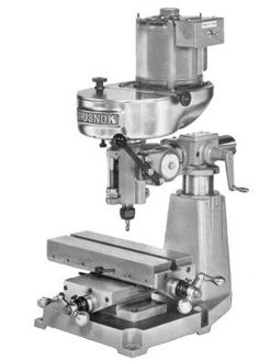 Rusnok Milling Machines and Attachments - pictures and descriptions Metal Working Tools, Old Tools, Benchtop Milling Machine, Metal Mill, Skill Tools, Lathe Tools, Cnc Lathe, Machinist Tools, Homemade Tools