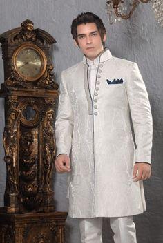 Men Designer Grooms Indian Wedding Indowestern Suit Sherwani Achon Coat Jacket