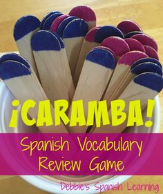 {Affiliate links used.}   I am closing out the school year with my Spanish lessons and wanted a way to review the vocabulary we have been ...