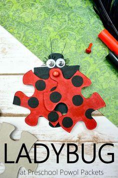 Ladybug Preschool Craft   Preschool Powol Packets