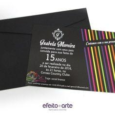 Convite tradicional 10x15cm com envelope padrão