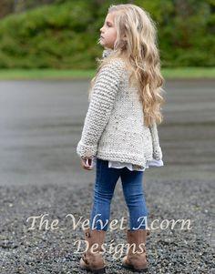 Suéter de punto de PATTERN-The PUNTO 2 3/4 5/6 por Thevelvetacorn