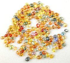 25 Pcs Natural Multi Songea Sapphire Normal Cut Oval Shape Gemstone,Cut Rare Tourmaline Jewelry making Gemstone by UGCHONGKONG on Etsy