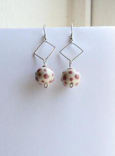 handmade earrings for sale, featuring Elaine Ray ceramic beads
