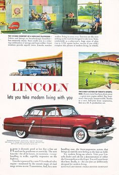 Old Lincoln Ad from Route44West on Etsy #vintage illustrations #paper ephemera #vintage prints #red lincoln