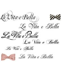 """Life is beautiful"" in italian. I'd love a tattoo of this"