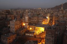 Picture of the Day: The Old City of Sana'a atNight