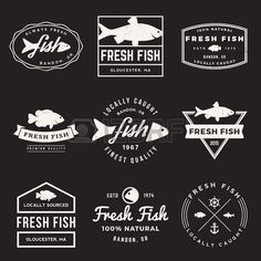 Vector Set Of Fresh Fish Labels, Badges And Design Elements With.. Royalty Free Cliparts, Vectors, And Stock Illustration. Image 42864166.