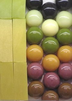 (6) Japanese Sweet Jelly Balls. Love the colors!! | Food | Pinterest