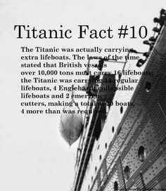 titanic fact #10