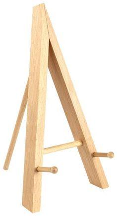 Wood Table Top Easel, Standard Tripod Design, 5.25 x 9.375 - Natural $3.95 each 5-25 quantity