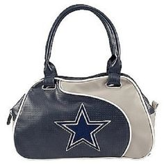 NFL Dallas Cowboys Ladies Perfect Bowler Purse - Black by DealTime2 on Etsy