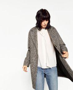 Image 5 of BOUCLÉ COAT from Zara
