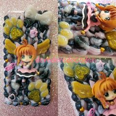 Cardcaptor Sakura case for the iPhone 6 Plus! Shop now at→ https://www.etsy.com/shop/DereDereDecoden #decoden #デコ電 #decodencase #decodencases #animefigures #kawaii #かわいい #cardcaptorsakura #cardcaptors #iphone6pluscase #iphone6plus #pinkandblack #gold #etsy #etsyseller
