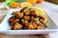 :D I made this Orange Chicken on my Food Network show a few weeks ago, and I just realized yesterday that Id never shared the r...